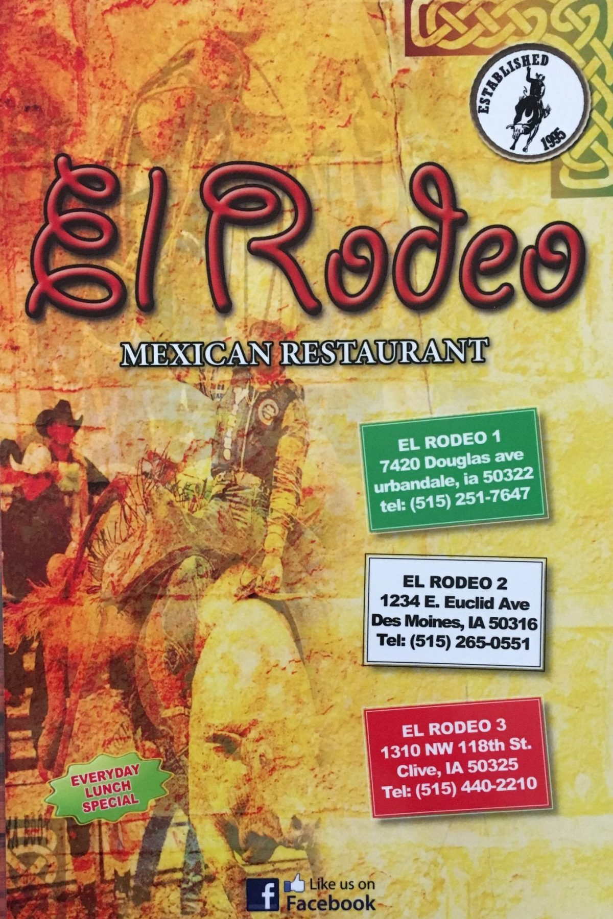 El Rodeo Menu